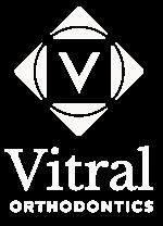 Vitral Orthodontics White Logo